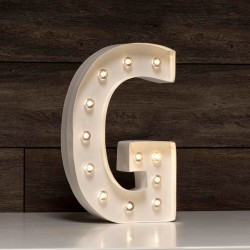 LETRA LUMINOSA G MARQUEE LOVE 30 CM