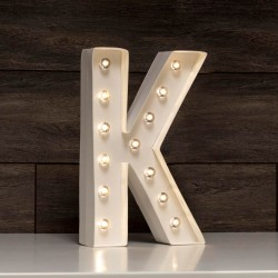 LETRA LUMINOSA K MARQUEE LOVE 30 CM