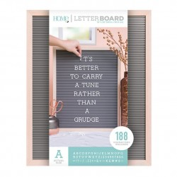 LETTER BOARD MADERA NATURAL Y GRIS 16 X 20