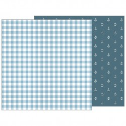 PAPEL SCRAP BLUE BLANKIE NIGHT NIGHT DE PEBBLES