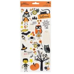 STICKERS HALLOWEEN ACENTO SPOOKY BOO