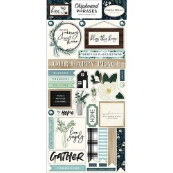 STICKERS CHIPBOARD PHRASES HOME AGAIN