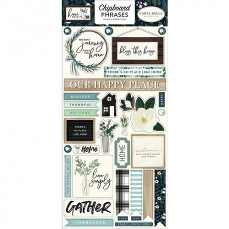 STICKERS CHIPBOARD PHRASES