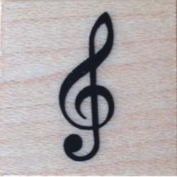 SELLO DE MADERA NOTA MUSICAL