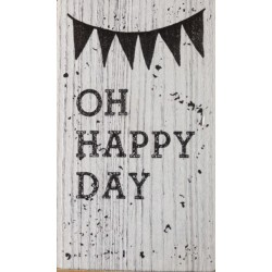 SELLO DE MADERA OH HAPPY DAY
