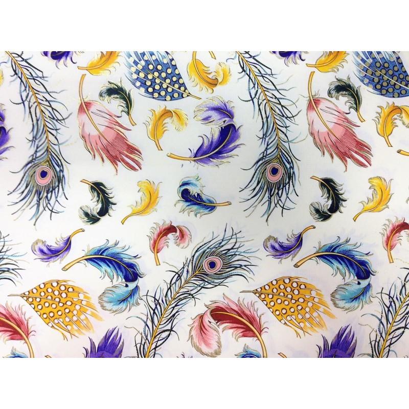 Papel decorado plumas con dorado for Papel decorativo dorado