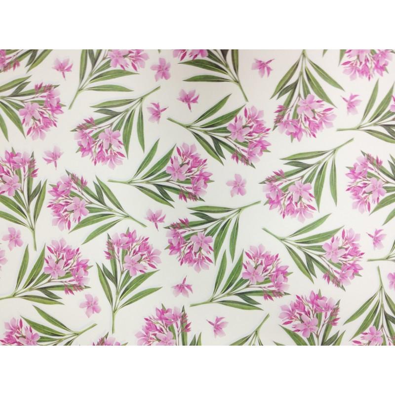Papel decorado flor rosa for Papel decorado rosa