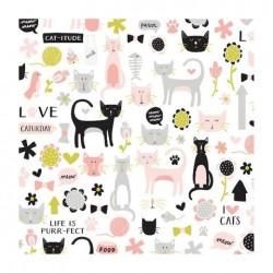 PAPEL SCRAP CAT-ITUDE DE MEOW
