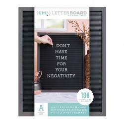 LETTER BOARD MADERA GRIS Y NEGRO 16 X 20