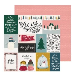 PAPEL SCRAP BUNDLED DE SNOW FLAKE
