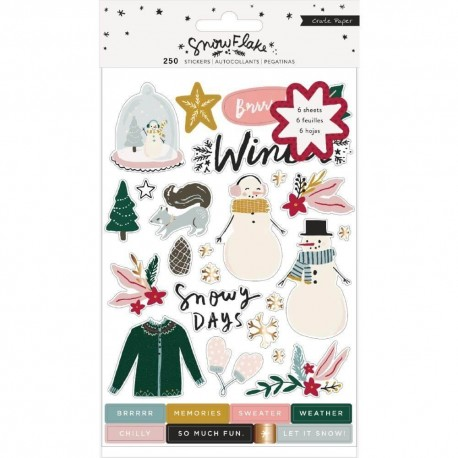 PACK  STICKERS SNOW FLAKE